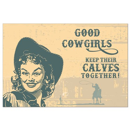 Tree-Free Greetings Cowgirl Calves Boxed ECOnotes Blank Note Cards-FS56303 - Cowgirl Invitations
