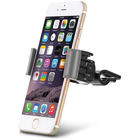Aduro U Grip Swivel Universal Smartphone Air Vent Car Mount Holder With 360 Rotating Swivel Head Compatible Apple Iphone  Samsung Galaxy  Htc And All Devices Up To 6  Gray