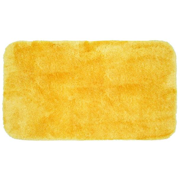 Mainstays Performance Nylon Bath Rug Sunray Yellow 19 5 X 34 Walmart Com Walmart Com