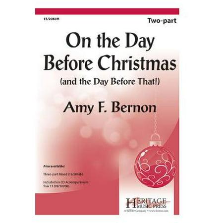 Halloween Piano Sheet Music Nightmare Before Christmas (On the Day Before Christmas-Ed Octavo - 2-pt,Piano - New Horizons - Amy F Bernon - Sheet Music -)