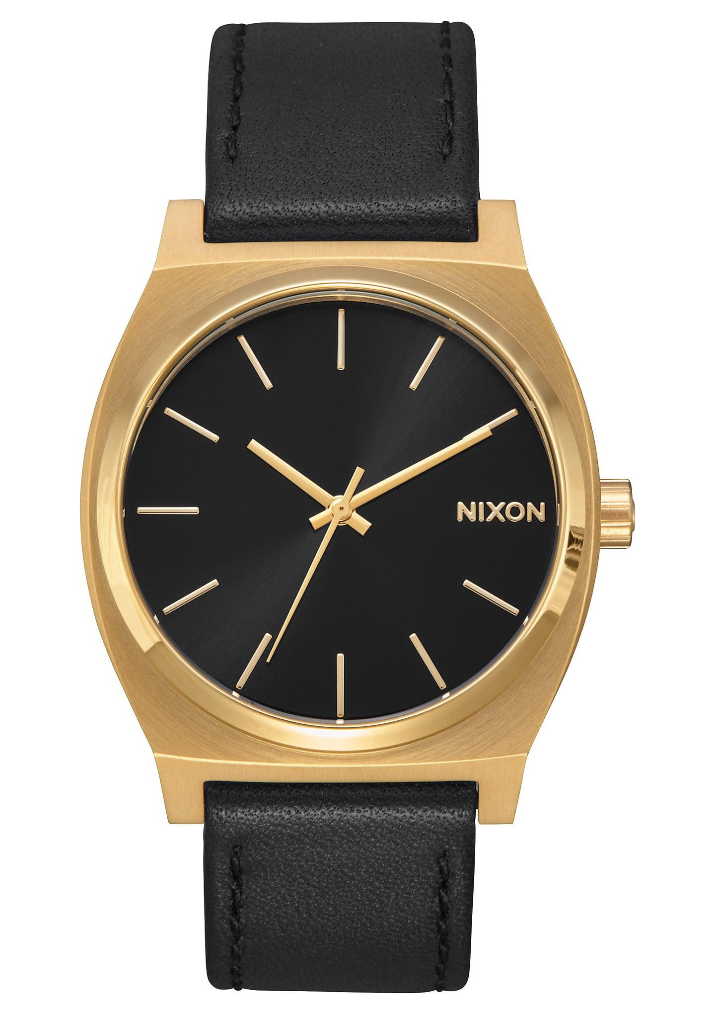 Time Teller A045-2639 Black/Black Leather Analog Quartz Unisex Watch