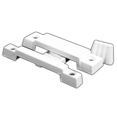 Spring Camp Action Window Sash Lock Hardware White 4-Pack