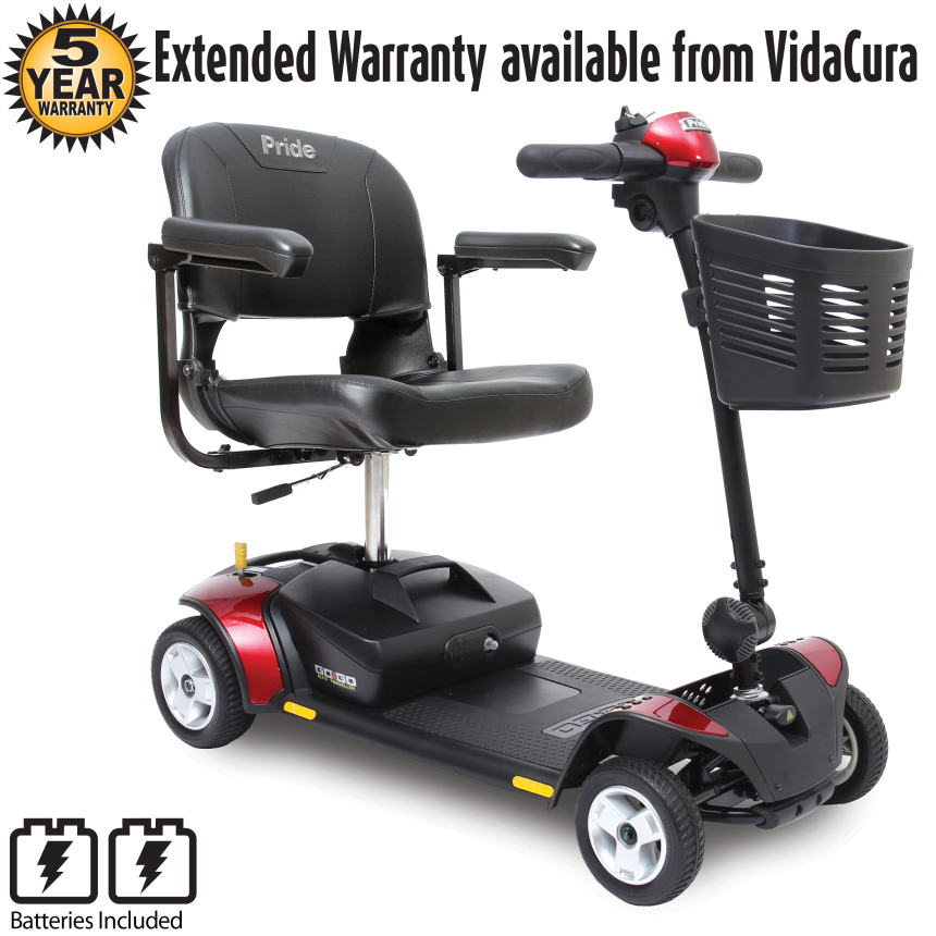 Pride Mobility GoGo Elite Traveller 4 Wheel Scooter (12AH Battery) w/ Avail Ext Warr