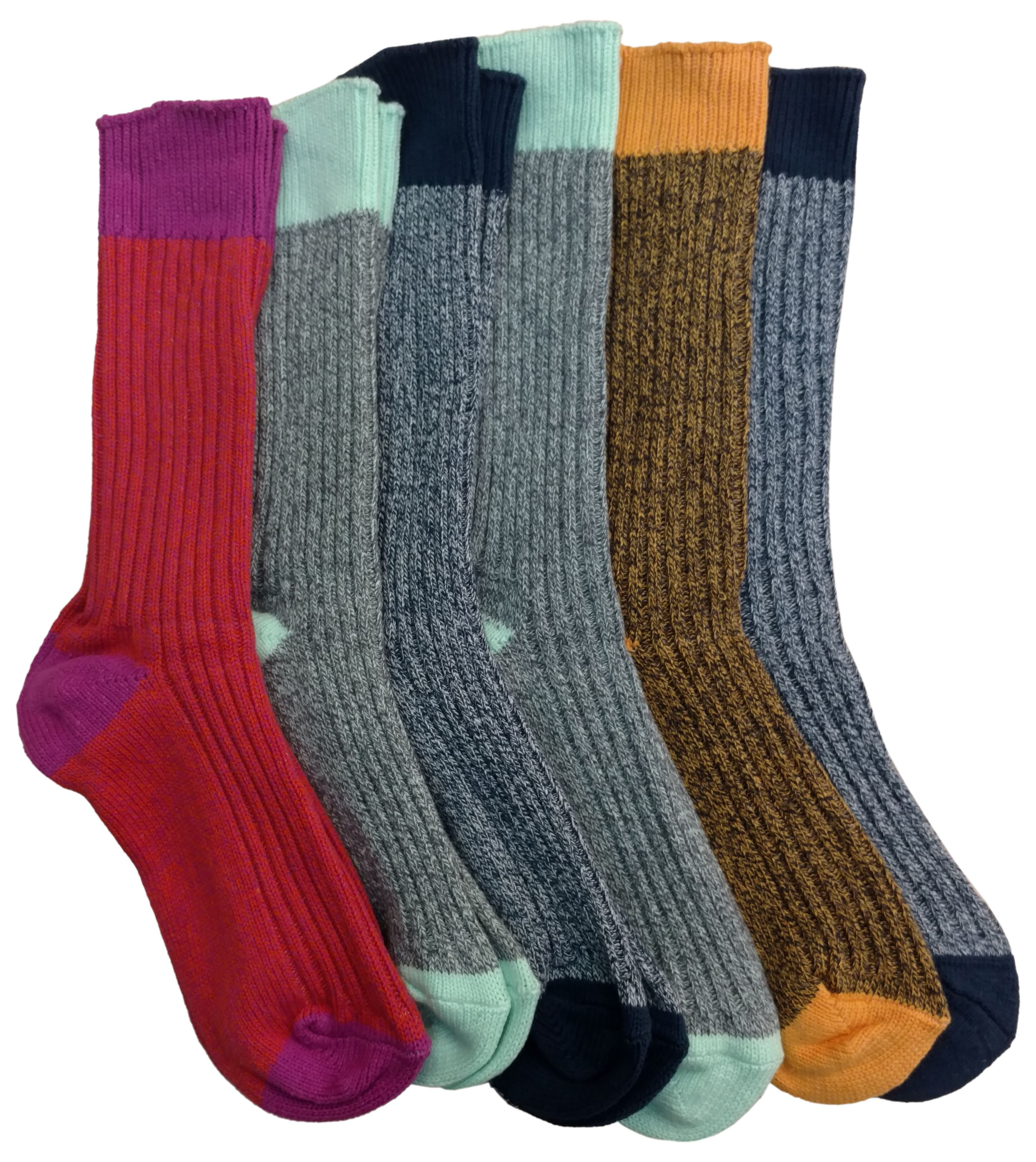 6 Pairs of Sockbin Colorful Thick Warm Winter Boot Socks