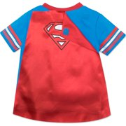 9547cd318 Warner Bros. - Superman Toddler Boys' T-shirt with Cape, Blue (3T ...