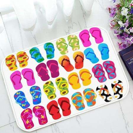Prince Slip (GCKG Colorful Beach Flip Flops Print Non-Slip Doormat Indoor/Outdoor/Bathroom Doormat 23.6 x 15.7 Inches)