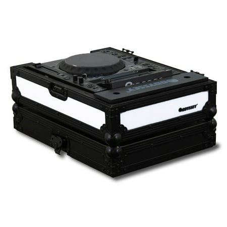 Odyssey FFX2RCDJBL Flight FX Series CD DJ CDJ Case w/ Front + Right LED Panel