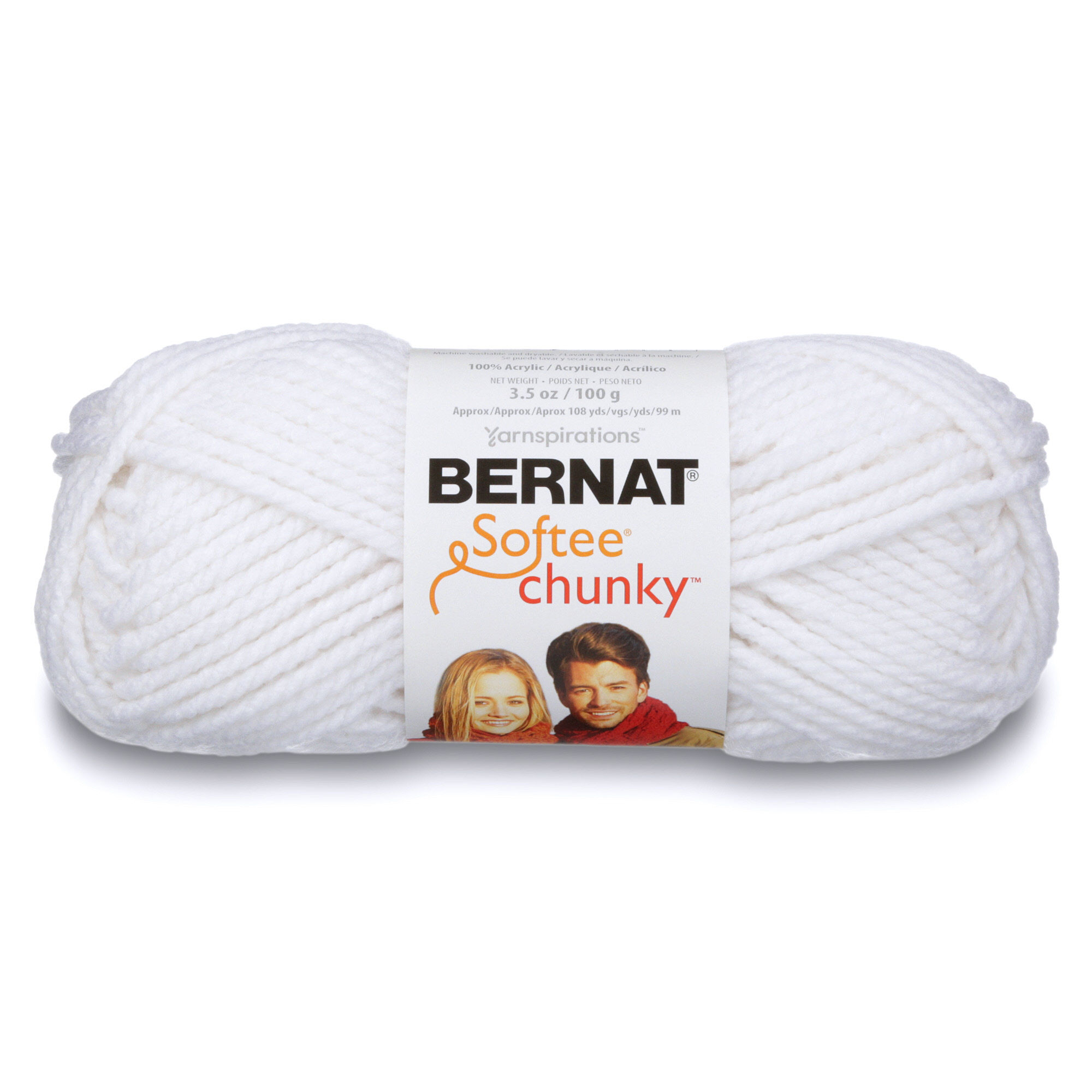 Bernat Softee Chunky Yarn-Grey Ragg