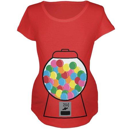 Candy Gumball Machine Costume Pregnancy Maternity Soft T - Gumball Machine Costumes