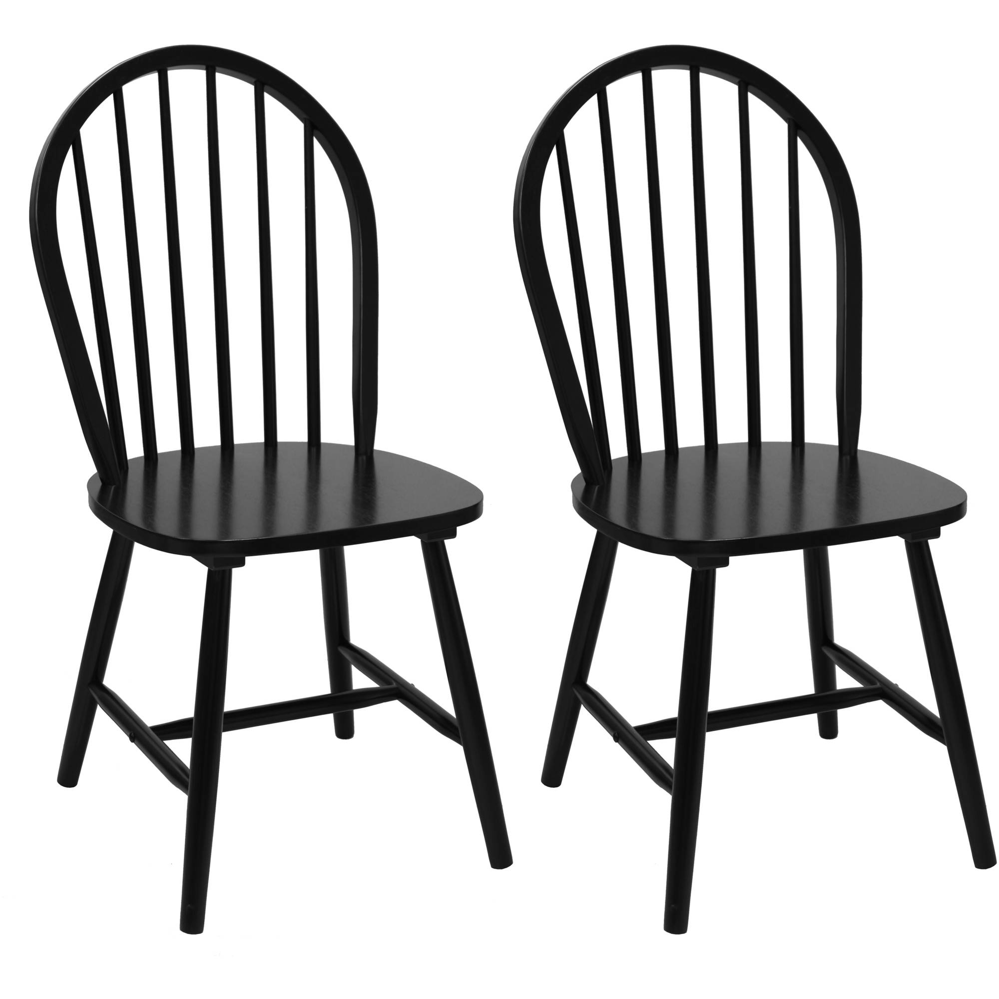 Mainstays Windsor Chairs Set of 2 Black Walmart