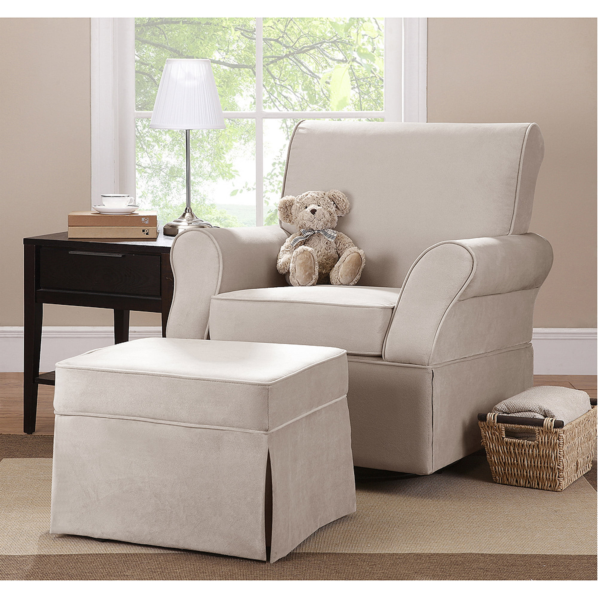 Kelcie Swivel Glider Ottoman Choose Your Color