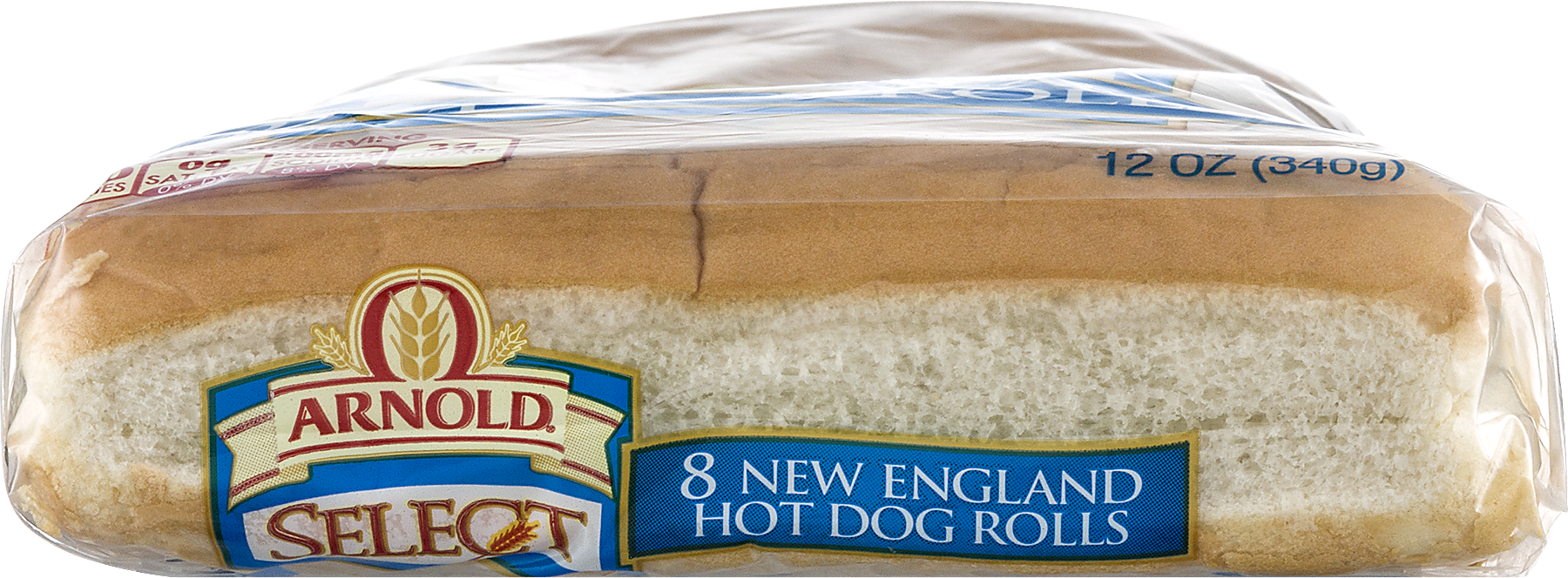 Arnold Select New England Hot Dog Rolls, 8 Ct, 12 Oz   Walmart.com