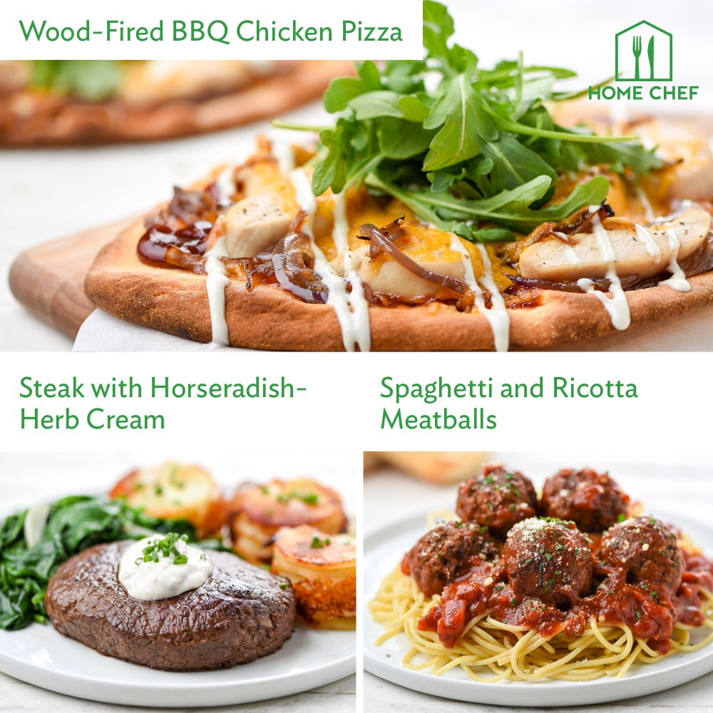 Home Chef Meal Kits, Chef's Choice Dinner for 2. 3 Meals