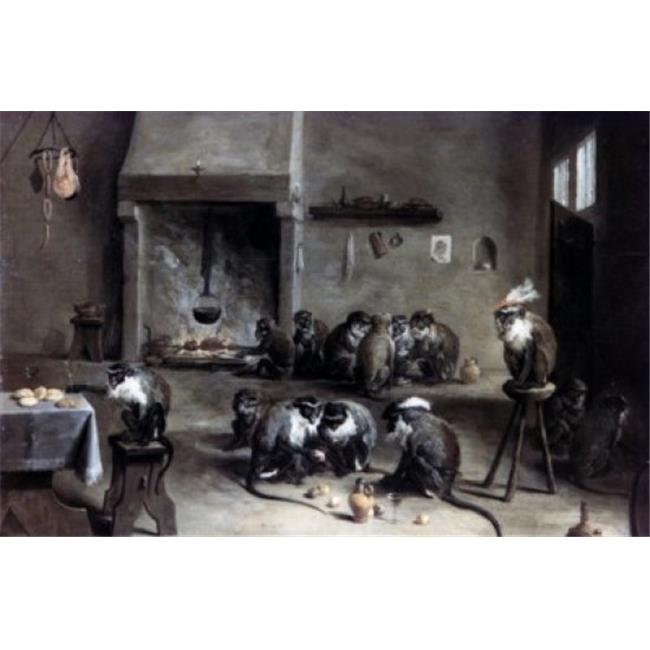 Posterazzi SAL90064958 Monkeys in a Kitchen by David Teniers the Younger Circa 1640 1610-1690 Russia St Petersburg the Hermitage Poster Print - 18 x 24 in. - image 1 de 1