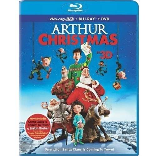 Arthur Christmas (3D Blu-ray + Blu-ray + DVD + Digital Copy) (With INSTAWATCH) (Widescreen)