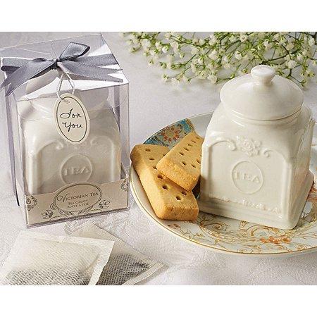 Tee Caddy (Victorian Tea Porcelain Tea Caddy )