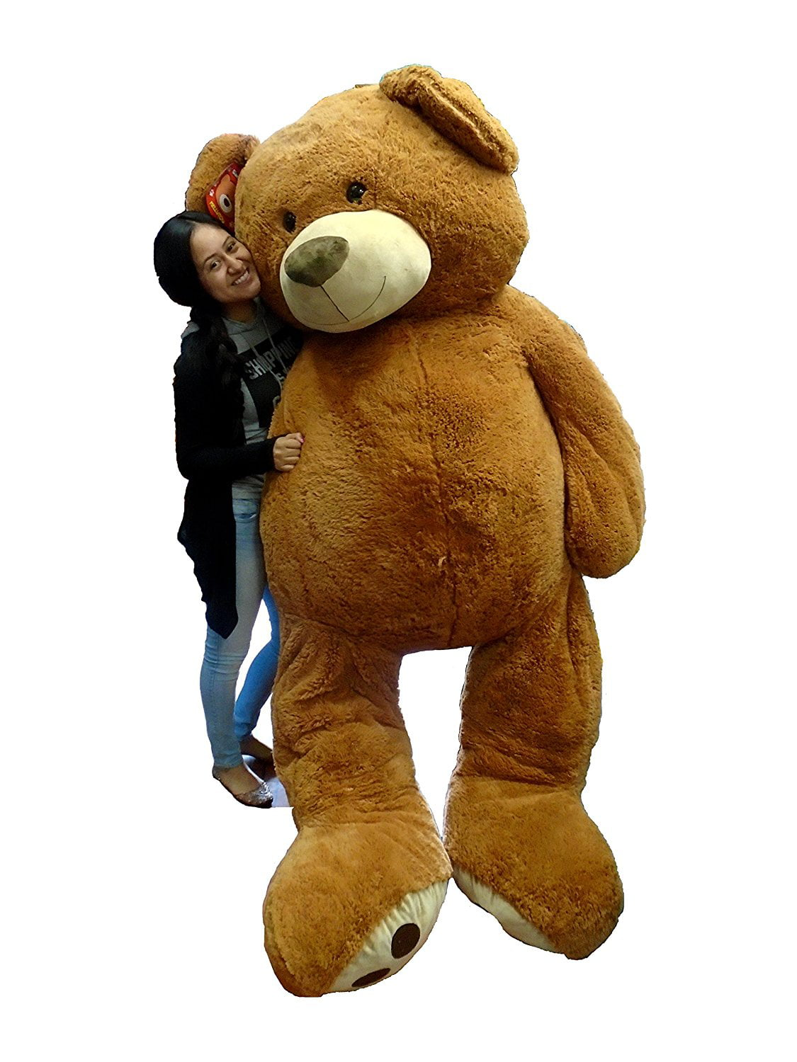 Big Plush Giant Teddy Bear Life Size Brown Teddy Bear Over 93 inches by