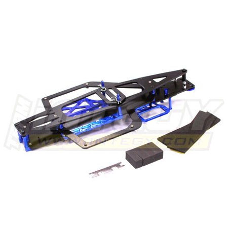 Integy RC Toy Model Hop-ups T8097BLUE EVO-X Chassis Conversion Kit for Traxxas 1/10 Electric Slash -