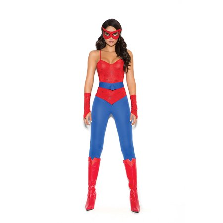 Elegant Moments Spider Super Hero 5 Piece Womens Costume
