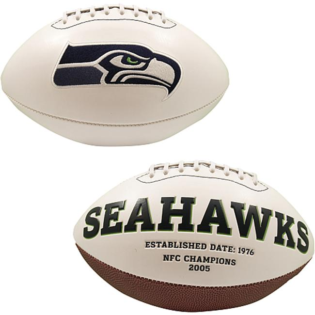 Creative Sports FB-SEAHAWKS-Signature Seattle Seahawks Embroidered Logo Signature Series Football