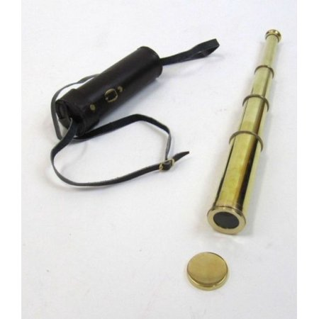 India Overseas Trading BR48521L - Polished Brass Pirate Telescope w/ Pouch (Pirate Telescope)