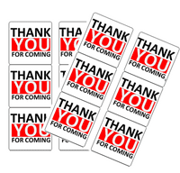 120ct Thank you for Coming Stickers - Red