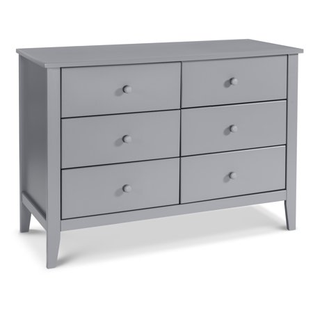 Carter's by DaVinci Morgan 6-Drawer Dresser in Grey (Da Vinci Oak Dresser)