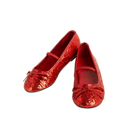 Halloween Costume Accessory Girls Ballet Shoe Red (Red Costume Shoes)