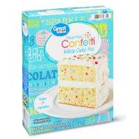 Great Value Deluxe Moist Confetti White Cake Mix, 15.25 oz