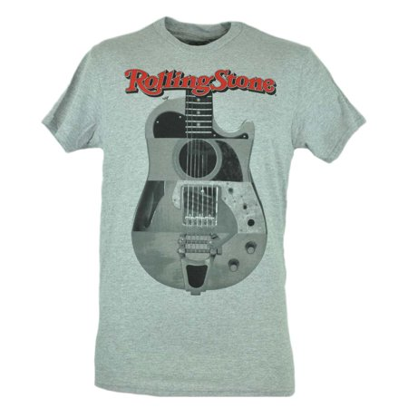 Rolling Stones Grey Electric Guitar Music Rock Band Classic Tshirt Tee (Top 10 Classic Rock Bands Of All Time)