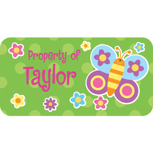 Personalized Kids Property Labels, Butterfly