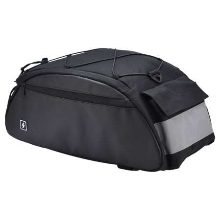 10L Bike Rack Bag Waterproof Cycling Bike Rear Seat Cargo Bag Bike Trunk Pack Shoulder Carry
