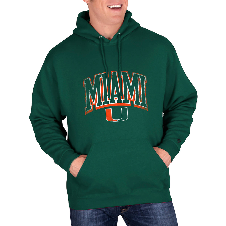 NCAA Miami Hurricanes Mens Classic-Fit Pullover Hood