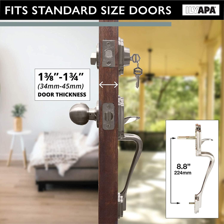 Traditional Style Front Door Exterior Handleset Elegant Lock Set Handle Hardwa