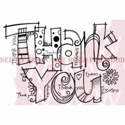 """Woodware Clear Stamps 3.5""""X5.5""""-Graffiti Thank You"""