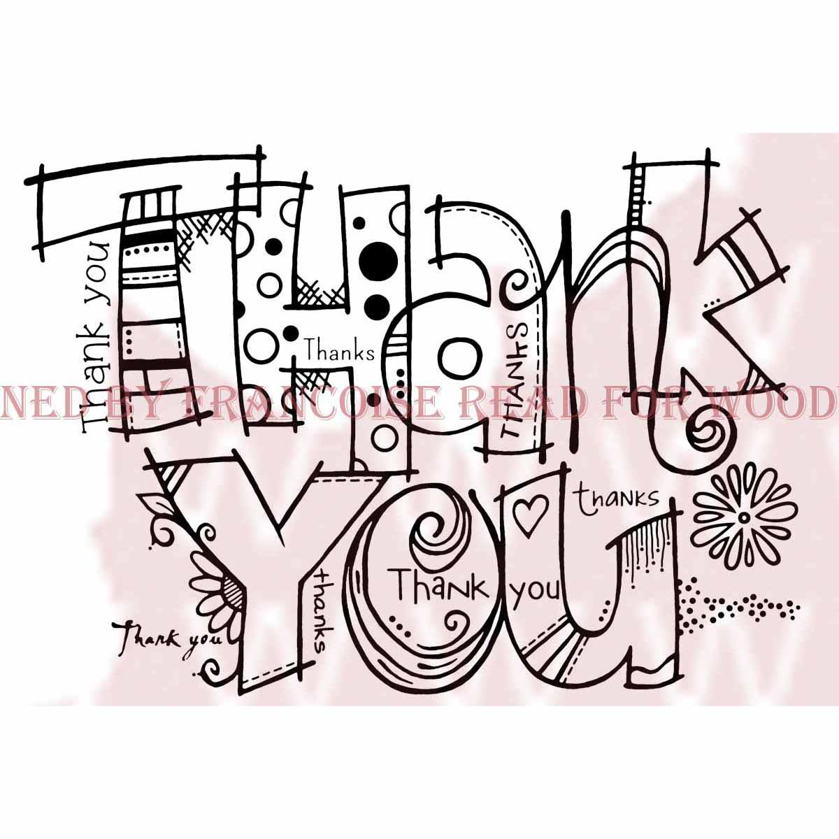 "Woodware Clear Stamps 3.5""X5.5""-Graffiti Thank You"