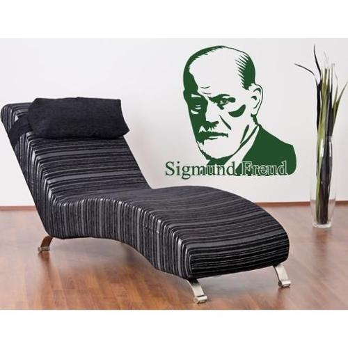 Sigmund Freud Wall Decal Vinyl Art Home Decor Turquoise 31in x 32in