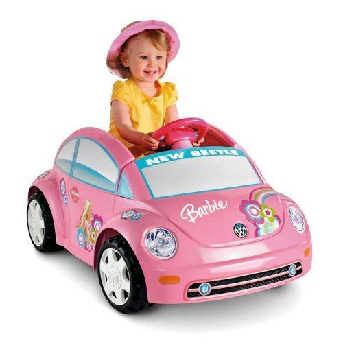 Fisher-Price Power Wheels Barbie Volkswagen Beetle 6-Volt Battery-Powered Ride-On