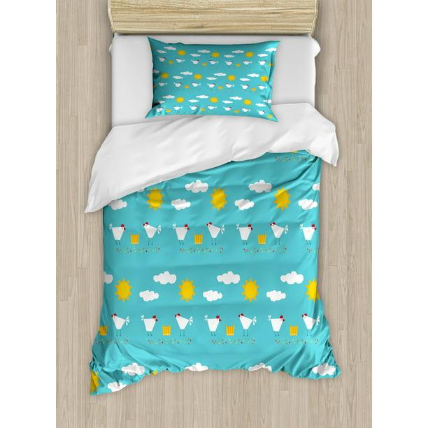 Cartoon Duvet Cover Set Twin Size, Farm Toddler Bedding Sets
