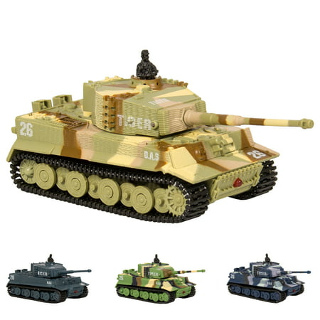 Best Choice Products 1:72 Mini Remote Control Battle Tank RC Car Kid Toys In Assorted