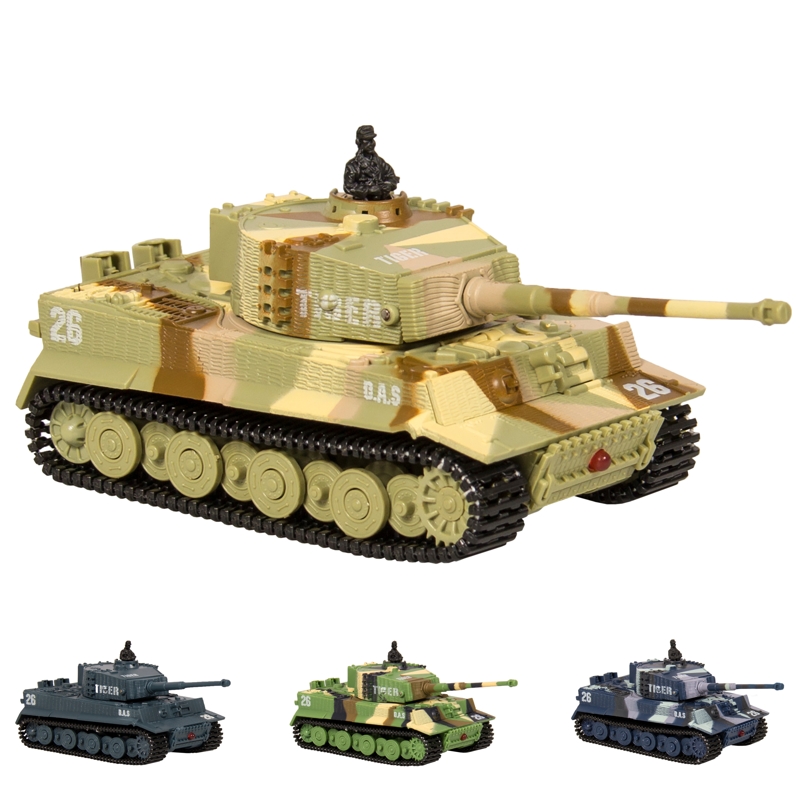 Best Choice Products 1:72 Mini Remote Control Battle Tank RC Car Kid Toys In Assorted Colors