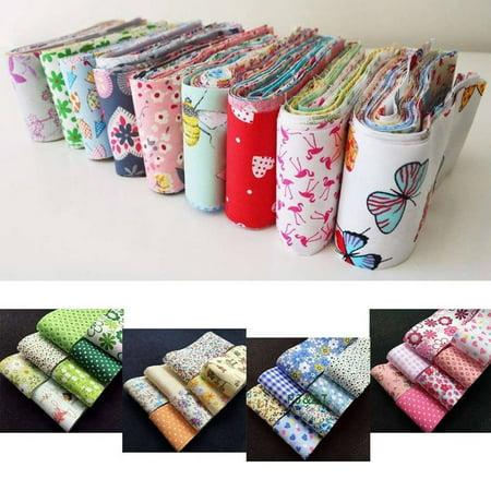 30pcs Flower Dot Stripe Cotton Cloth Diy Sewing Patchwork Quilting Doll Cloth Handmade Needlework Fabric - image 6 de 9