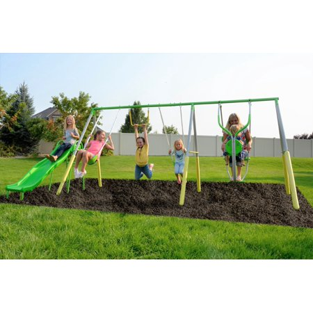 Sportspower Spring Breeze Me and My Toddler Metal Swing Set](Swing Sets Academy)