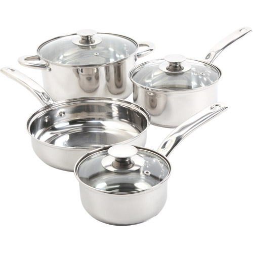 Sunbeam Ansonville 7-Piece Cookware Set, Stainless Steel