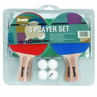 Franklin Sports 4-Player Table Tennis Paddle Set