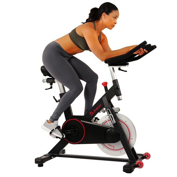Sunny Health Fitness Magnetic Belt Drive Indoor Cycling Bike With High Weight Capacity And Tablet Holder Sf B1805 Walmart Com Walmart Com
