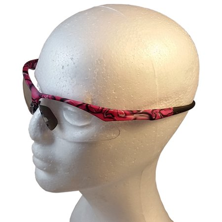 ERB Annie Safety Glasses with Pink Camo Design and Clear (Camo Glasses)