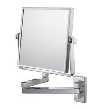 Mirror Image Mirror Image Square Double Arm Wall Mirror