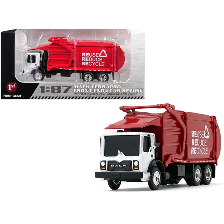 Mack TerraPro Front End Loader Refuse Garbage Truck