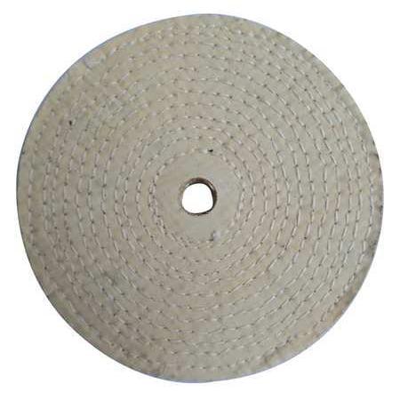 ZORO SELECT 12U109 Buffing Wheel,Spiral Sewn,10 In Dia.